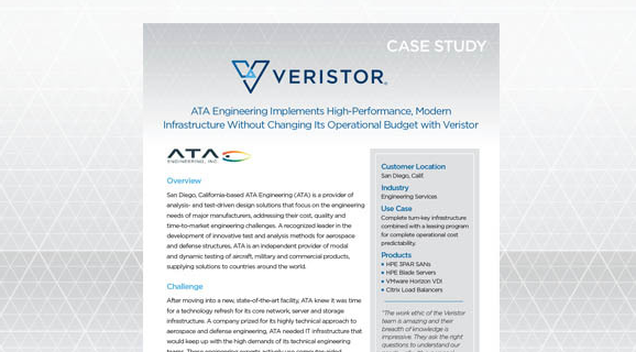 ATA Engineering Implements High-Performance, Modern Infrastructure without Changing its Operational Budget with Veristor